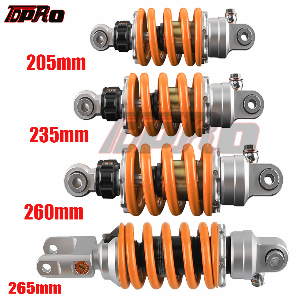 TDPRO 205mm 235mm 260mm 265mm Motorcycle Suspension Rear Shock Absorber For Kawasaki LC135 150 Yamaha Go Kart Quad Dirt Pit Bike
