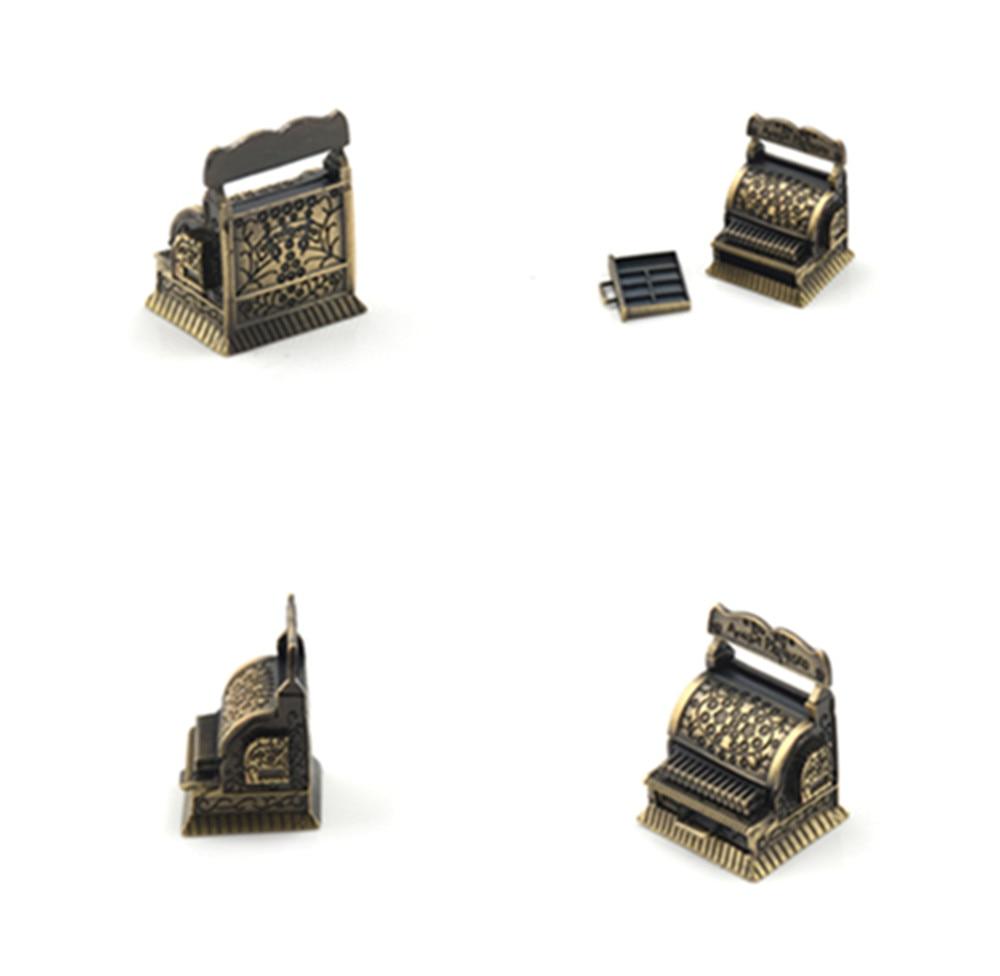 1PCS Vintage Metal Cash Register 1:12 Dollhouse Miniature Accessories 1/12 Furniture for Doll Home Decoration