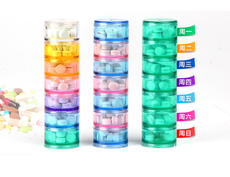 Seven Days A Week And Receive Case With Mini Kit Portable Pcs Small Seal Points Medicine Container Pills Pill Box Storage ...