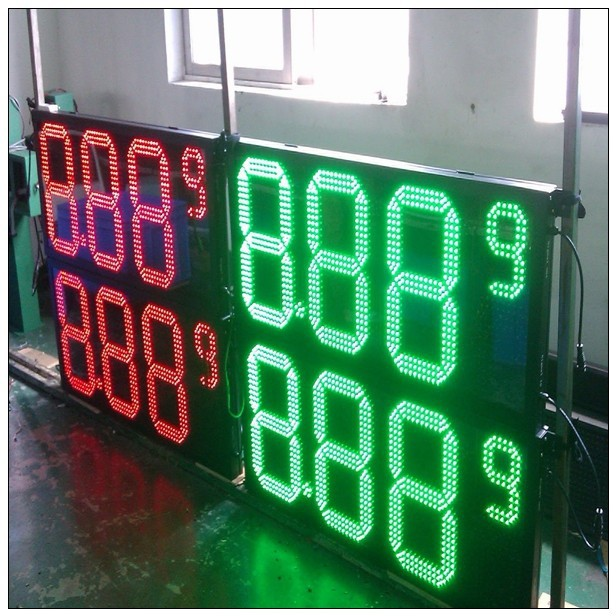7 Segment Oil/gas Fuel /diesel Green 12 8 8.889/10 Digital Numbers Led Gas/oil/petrol Station Price Display Sign Board Screen Available In Various Designs And Specifications For Your Selection Electronic Components & Supplies