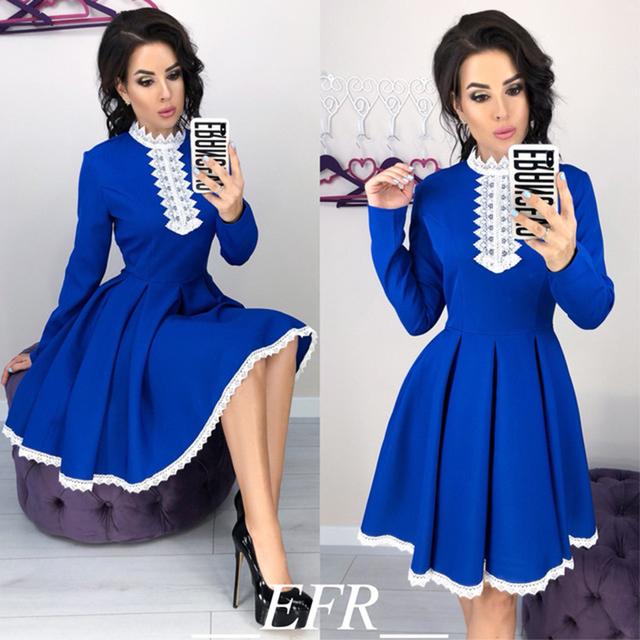 Crochet Lace A-Line Patchwork Mini Dress