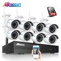 Plug & Play 8CH H.264 Wireless NVR CCTV Kit 960P 1.3MP HD IR Outdoor P2P Security IP Camera Home Surveillance System&Mobile App