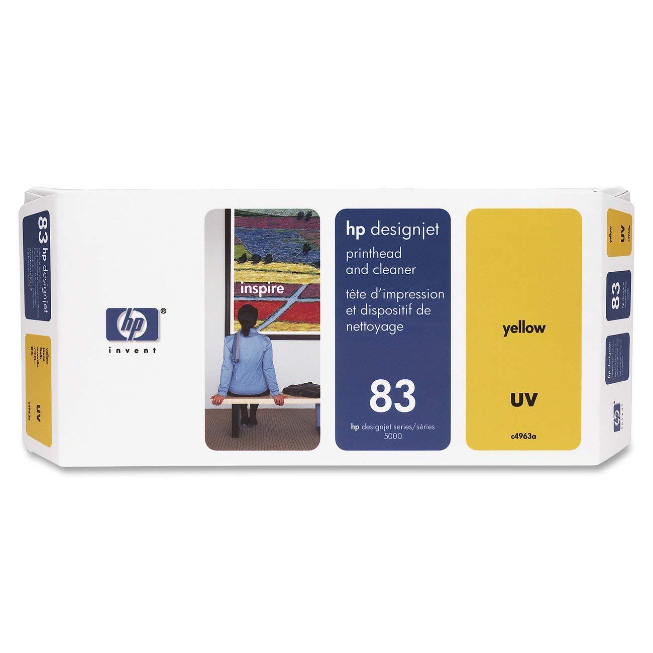 Original Printer Head for HP 83 C4963A UV Printhead and Cleaner for DesignJet 5000 series, YellowOriginal Printer Head for HP 83 C4963A UV Printhead and Cleaner for DesignJet 5000 series, Yellow