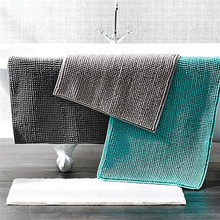 Solid Color Bathroom Carpets Non-slip Bath Mat Pure Chenille Bathtub Floor Towel Rug Entrance Shower Room Doormat Toilet Mat bathroom carpets absorbent non slip floor mat soft thicken plush shower mat bath bathroom floor foam rug bedroom bedside mat