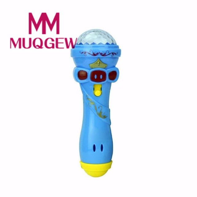 MUQGEW 2018 Cute Mini Toy Funny Lighting Wireless Microphone Model Toy Best Gift Music Karaoke 15