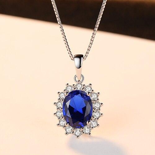 Elegant Oval Sapphire Pendant Necklace