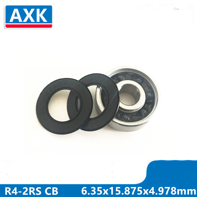 Painstaking Axk R4-2rs R4 Hybrid Ceramic Deep Groove Ball Bearing 6.35x15.875x4.978mm R4-2rs Cb Abec-3 Supplement The Vital Energy And Nourish Yin