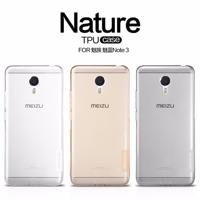Meizu m3 note case cover NILLKIN Nature clear TPU Transparent soft case for Meizu m3 note Luxury brand with retailed package