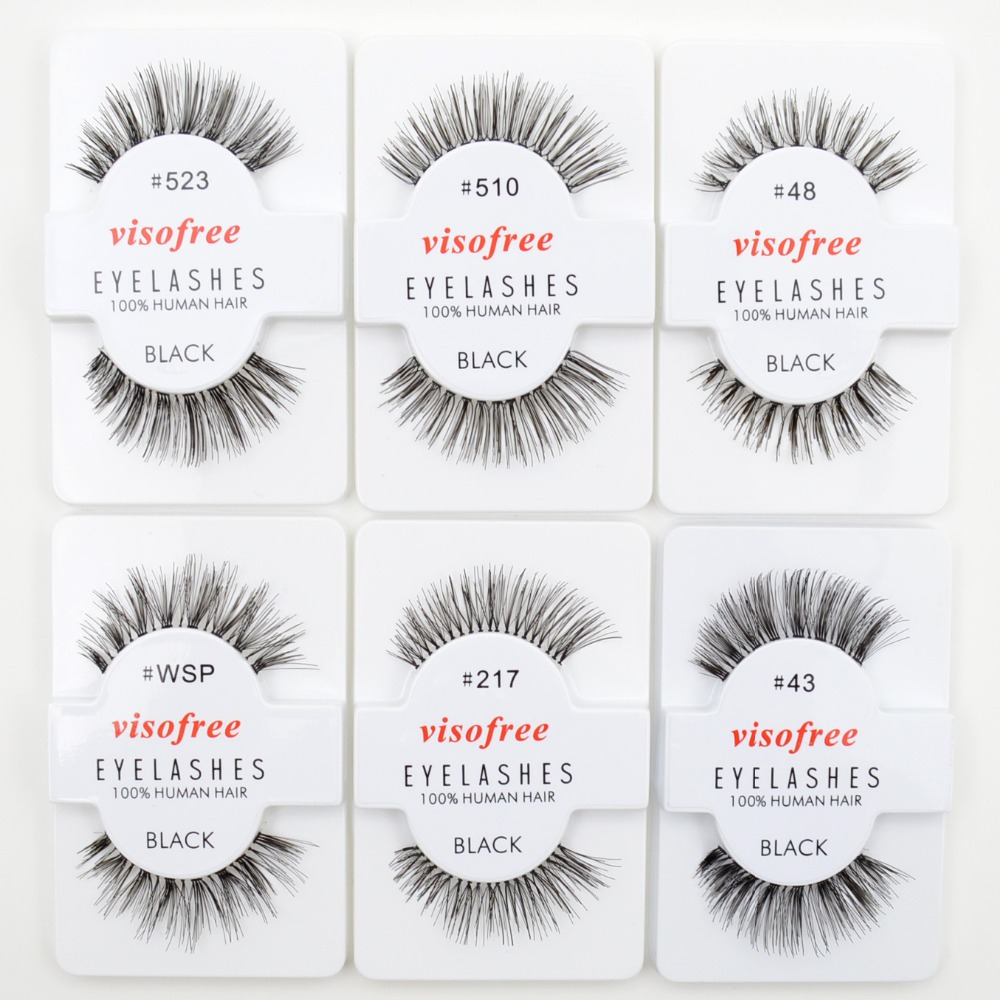 Image 3 - 120pairs/lot Visofree Eyelashes Handmade Natural False Eyelashes Cruelty Free Fake Mink Eyelashes Long Eyelash Extension Lashes-in False Eyelashes from Beauty & Health