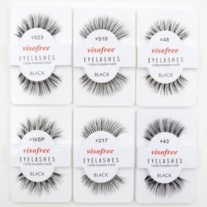 Image 3 - 120pairs/lot Visofree Eyelashes Handmade Natural False Eyelashes Cruelty Free Fake Mink Eyelashes Long Eyelash Extension Lashes