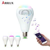 ARILUX? E27 12W RGB+W+WW Smart WiFi APP Control LED Light Bulb Speaker Remote Control Work With Alexa AC110 240V
