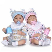 40cm Newborn Reborn Baby Dolls And Doll Colthes Silicone Babies Playmate Doll Kids Toys Christmas Birthday Gifts