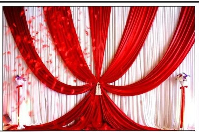 3x6m 10ftx20ft Backdrops Curtain New Design Ice Silk Red Wedding Background Material Scene Decorative In Party From Home