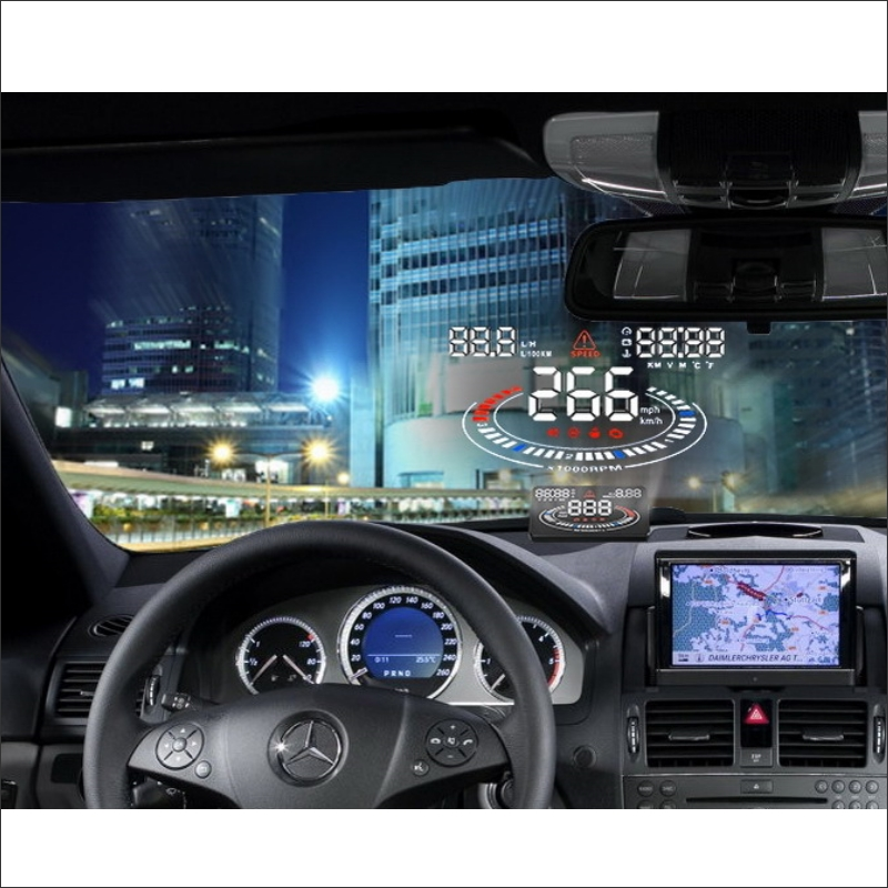 ФОТО HUD Head Up Display For Audi A6 S6 RS6 C6 C7 - Refkecting Windshield Screen Safe Driving Screen Car Projector