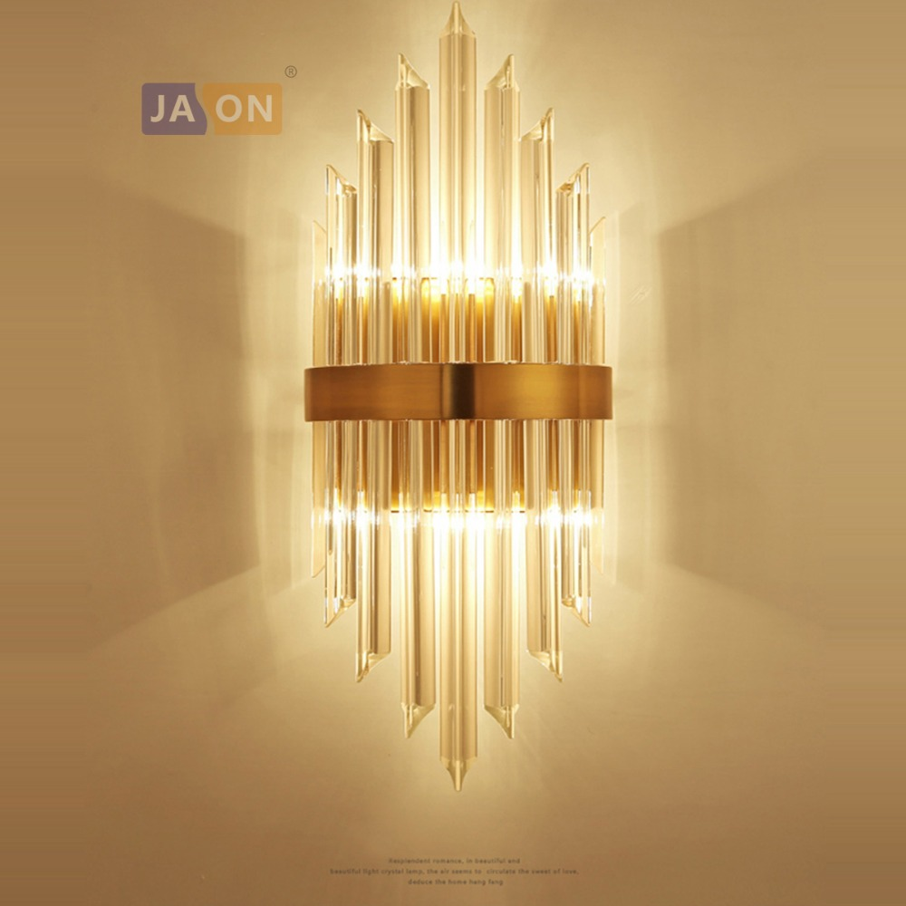 led e14 Nordic Iron Crystal Gold Clear LED Lamp LED Light Wall lamp Wall Light Wall Sconce For Bedroom Corridor led nordic iron crystal gold clear led lamp led light wall lamp wall light wall sconce for bedroom corridor