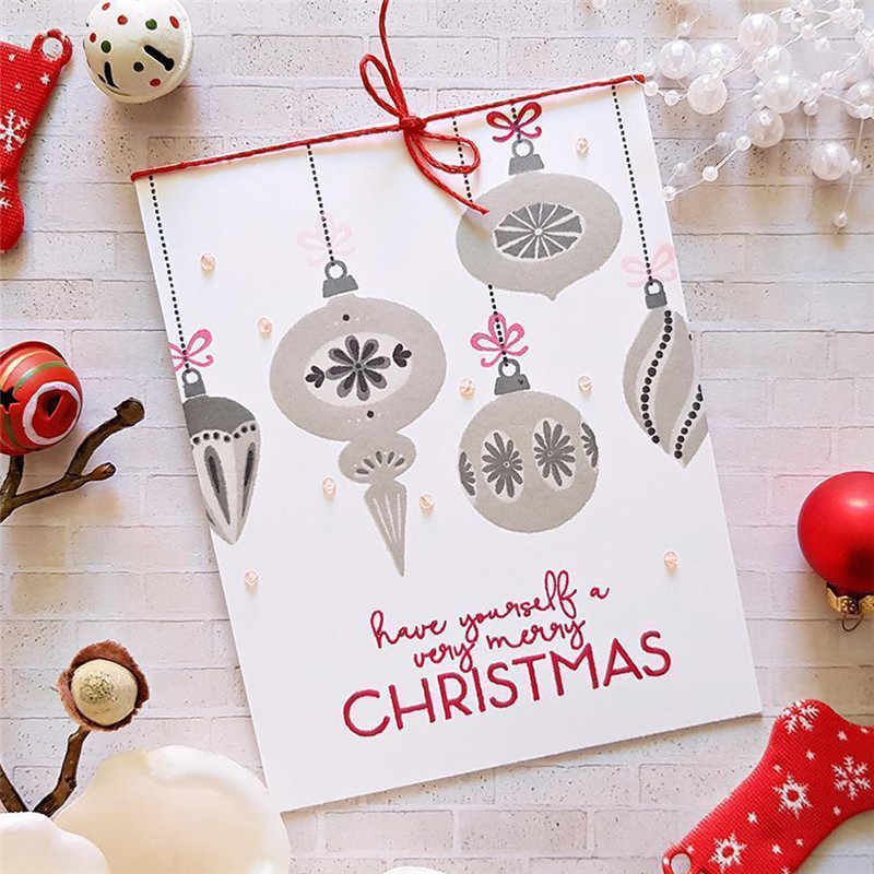 Eastashpe Clear Stamps and Dies Christmas Decoration for Card Making Brilliant Baubles Metal Die Craft for DIY Scrapbooking NEW
