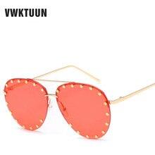 VWKTUUN Pilot Sunglasses Women Men Oval Lens Oversized Eyewe