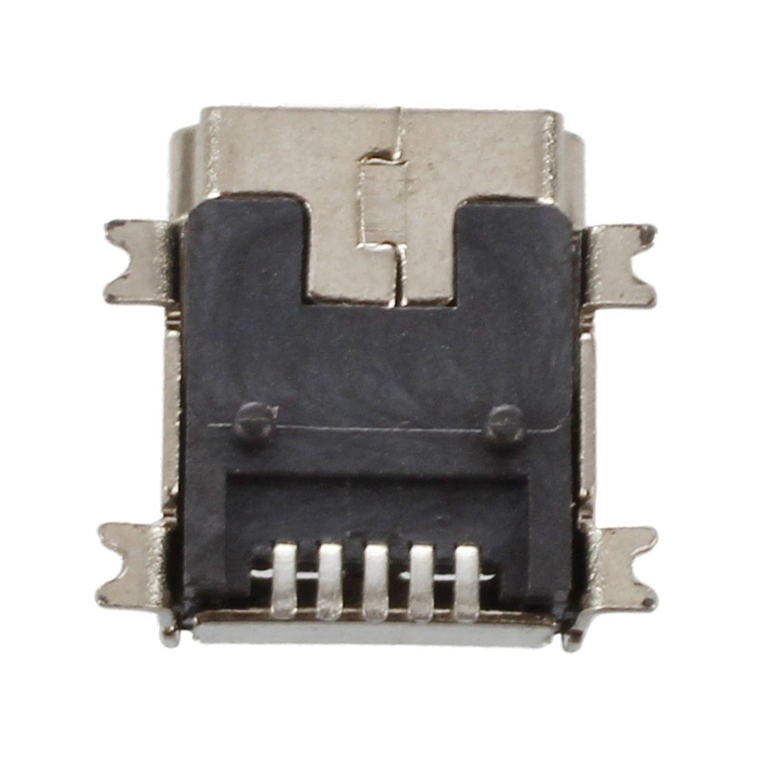 Hhtl-замена мини Тип USB B Женский 5 Булавки печатной платы крепление Jack Зарядное устройство Разъем 10 шт.