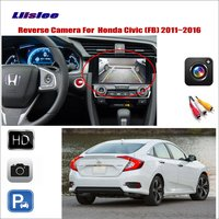 Liislee Car Reverse Rear View Camera For Honda Civic (FB) 2011~2016 / Compatible With Original Screen / RCA Adapter Connector