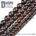 Red OX Tiger's eye beads Natural Stone High quality Round Loose beads ball 4/6/8/10/12MM accessories Jewelry bracelet making DIY