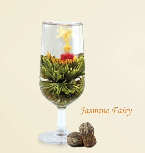 7pcs Jasmine Fairy blooming flower tea from 2016 new tea, 100% traditional technology, fresh green tea and dried flowers free shipping 2015 yr new tea premium jasmine pearl tea jasmine longzhu flower tea green tea 250g bag vacuum packaging