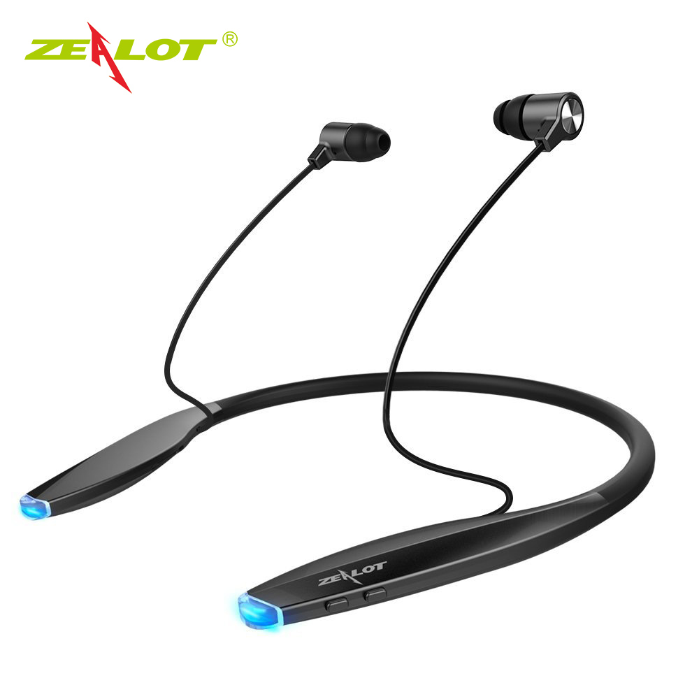 Zealot Neckband Bluetooth Headphone Sweatproof Sport Headset Wireless Stereo Bass Magnetic Earphone Headphone with Mic
