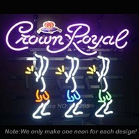 Crown Royal A Neon Light Sign Real Glass Tube Neon Bulbs Recreation Room Garage Sign Neon