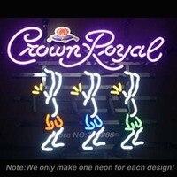 Crown Royal A Neon Light Sign Real Glass Tube Neon Bulbs Recreation Room Garage Sign Neon