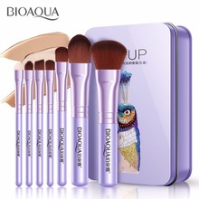 7PCS/SET Pro Women Facial Makeup Brushes Set Face Cosmetic Beauty Eye Shadow Foundation Blush Brush Make Up Brush Tool BIOAQUA pro fan brush 7pcs bamboo handle makeup eyeshadow blush concealer brushes set powder foundation facial multifunction beauty tool