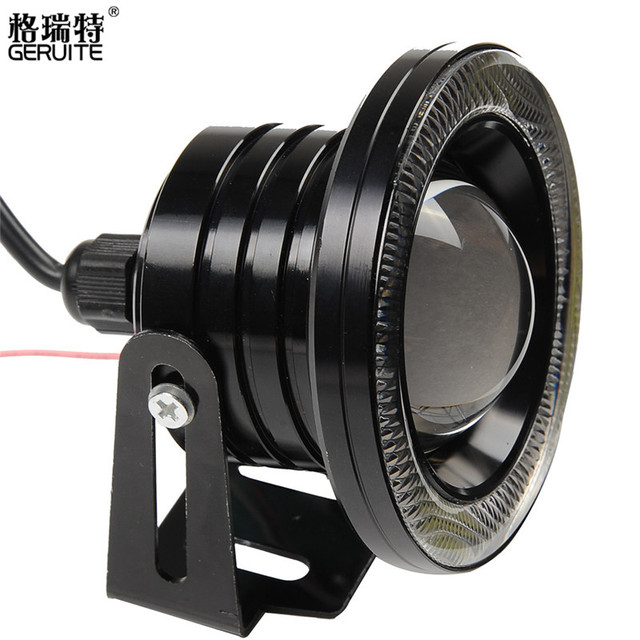 2 шт. 85 мм 3.5 ''Водонепроницаемый Halo Проектор LED С Объективом COB Angel глаз Противотуманные Фары Off Road Противотуманные Фары Дневные Ходовые Огни Супер Яркий