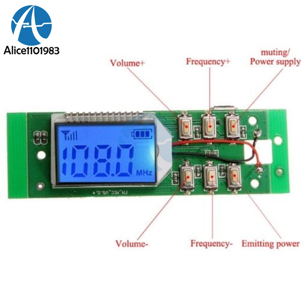 Fm Transmitter Module Wireless Microphone Circuit Board Computer Audio Transmitting Dc 3v 5v 870mhz 1080mhz In Integrated Circuits From