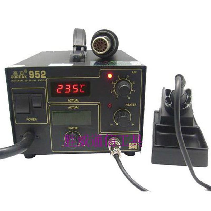 New 110V 220V 270W Gordak 952 soldering station + hot air heat gun 2 in 1 SMD BGA rework station 1pc gordak high quality 220v 110v gordak 952 2 in 1 desoldering station hot air gun soldering iron