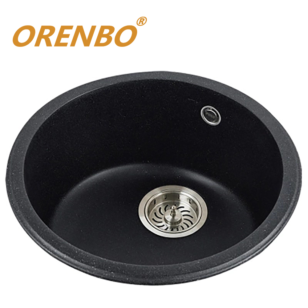 ORENBO Quartz Kitchen sink Kitchen Faucet Mixer single bowl vegetable fruit washing sink