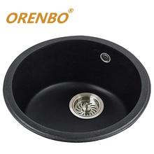 ORENBO кварцевая кухонная раковина кухня смеситель Одной Чаши овощей/фруктов стиральная раковина