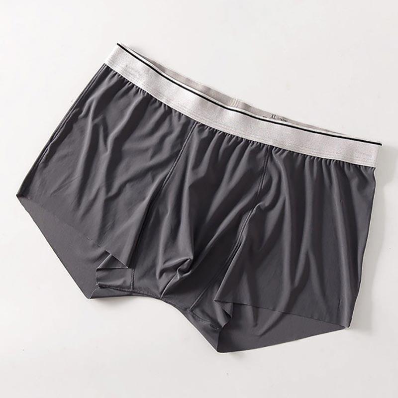 b86b6fb618 9 thArea Sexy ropa interior de los hombres hombre Boxer shorts modal de seda  de hielo sin costura u convexa para hombres ropa interior cueca joven  boxeador ...