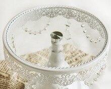 Tortenständer/Kuchenbehälter mit Spitze und Glas carystal für Hochzeit Dekoration 10 Zoll
