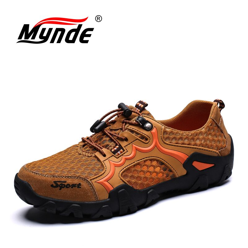 Mynde New Big Size Spring Summer Men's Shoes Breathable Flat Shoes Mesh Sneakers Outdoor Casual Shoes  Loafers Zapatillas Hombre