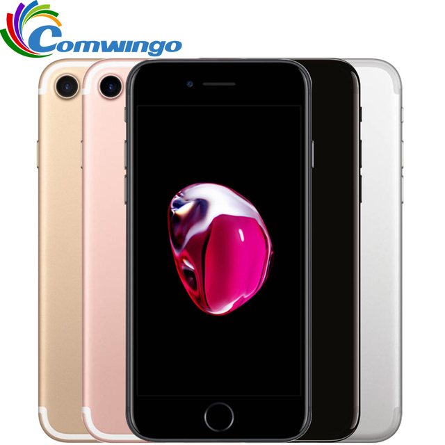 Original Apple iPhone 7 2GB RAM 32/128GB/256GB IOS 10 touch ID LTE 12.0MP iphone7 Camera Apple Quad-Core Fingerprint 12MP