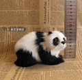 cute simulation panda toy polyethylene&fur mini standing panda doll gift about 13x8x9cm