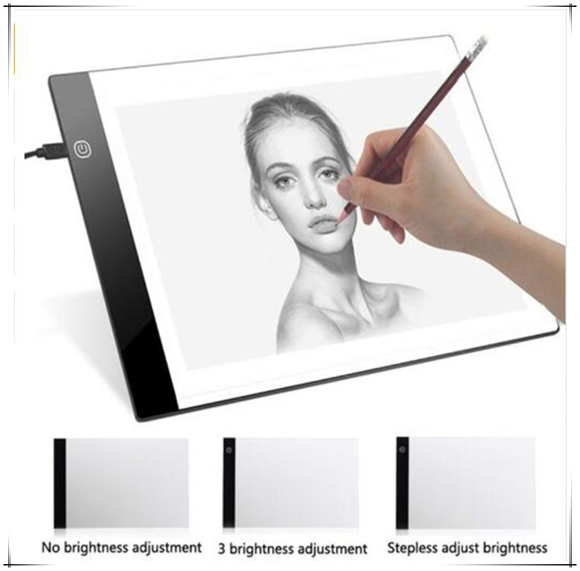 A4 Writing Diamond Painting Light Box Tracing Board Copy Pads Tablet Artcraft Copy Table LED Board Adjustable light source