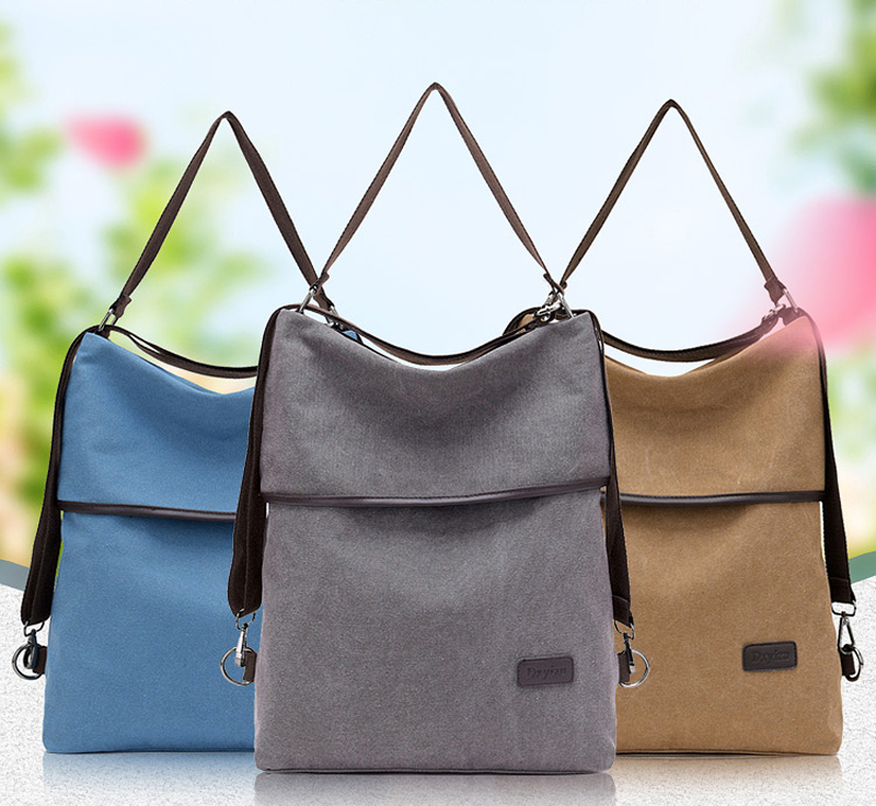 Fashion Women Backpack Simple Canvas Backpack Large Capacity Bookbag Waterproof Anti Theft Travel Backpack Mochilas Mujer 2021