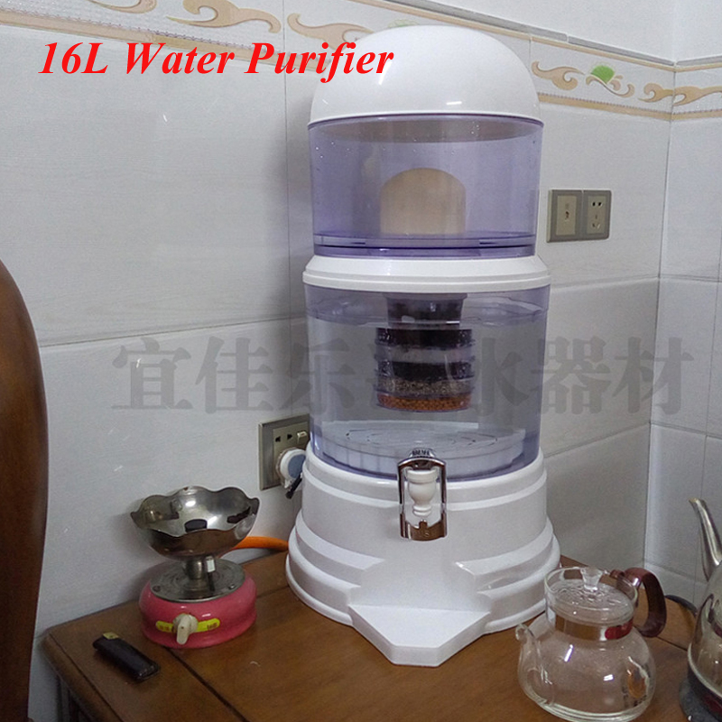 16L Water Filter Barrels Mineral Pot Water Treatment Filter Alkaline Straight Drink Bucket Dispenser Water Purifier wholesale lcd alkaline water ionizer