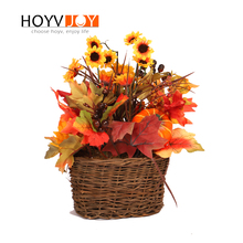 hot deal buy hoyvjoy artificial flowers dried sunflowers 35cm fake plants maple leaf decorations for home