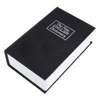 New Dictionary Book Secret Hidden Safe Key Lock Cash Money Jewellery Locker Box Color Black