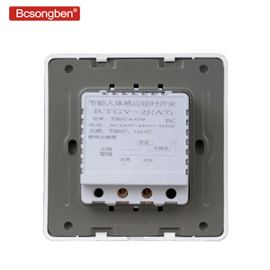 Image 5 - Bcsongben New Arrivals 220v 86 wall smart home led Infrared control energy saving delay  Lights Lamps motion sensor light switch