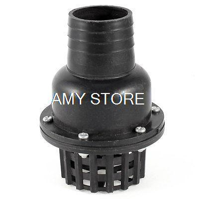 1PCS Fluid Machine White 1 4 Black 1-1/2 2 2-1/2 3 25/38/51/64/75/100mm External Dia Water Jet Pump PVC Foot Bottom Valve