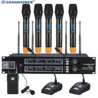 Профессиональный UHF Беспроводной караоке микрофон с ручной конференции микрофон audio vocal studio Высокая чувствительность КТВ пение Mic