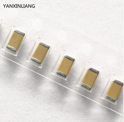 Image 1 - 100PCS 10uF 50V 1206 106 X7R 50V 10% SMD Capacitor-in Capacitors from Electronic Components & Supplies