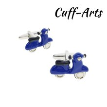 Cufflinks for Men Blue Scooters Mens Cuff Jewelery Gifts Vintage With Gift Box  by Cuffarts C10303