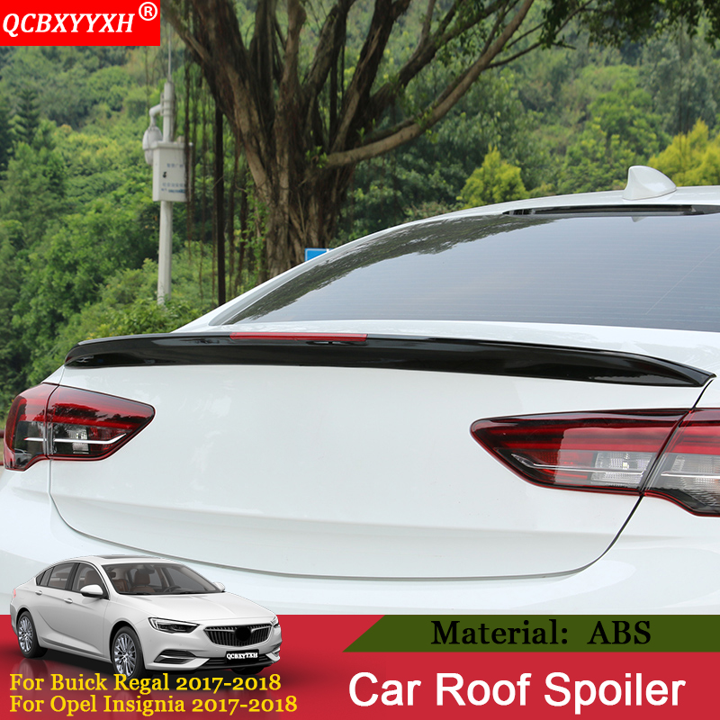 цена на QCBXYYXH Car-styling 1pcs/set ABS Material Roof Spoiler Auto External Decoration For Buick Regal Opel Insignia 2017 2018 Sedan